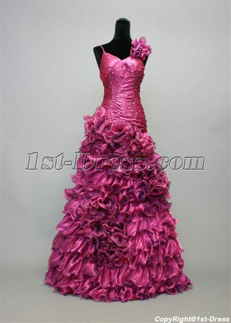 Floral Fuchsia Sweet Sixteen Party Dresses IMG 6995:1st