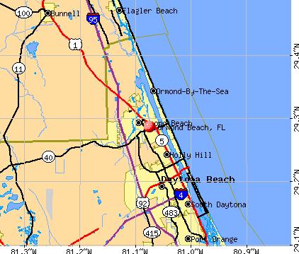 Ormond Beach Florida Fl 32176 Profile Population Maps
