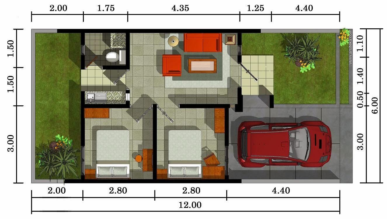 Denah Sketsa Rumah Minimalis 4