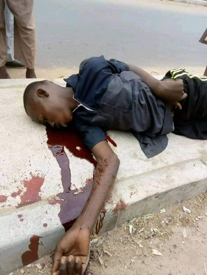 SO SAD!! Boy Dies In An Accident While Celebrating Buhari's Re-election (Graphic Photo)