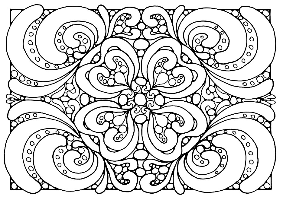 Easy Printable Coloring Pages For Adults - Coloring And Drawing