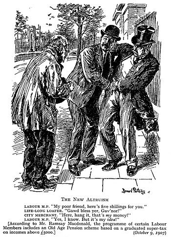 Punch cartoon (1907); illustrates the unpopula...