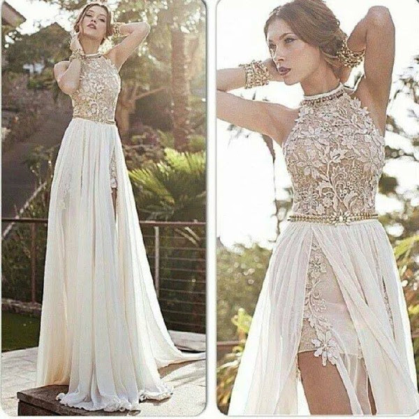 Long embellished evening dresses