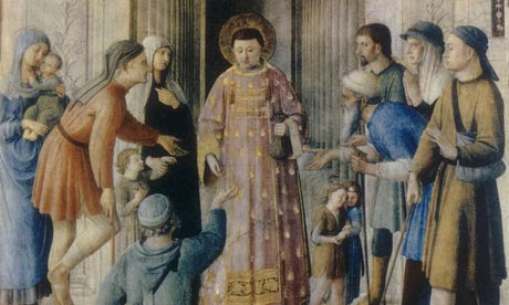 St Lawrence distributing alms by Fra Angelico