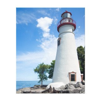Marblehead Lighthouse Stretched Canvas Prints