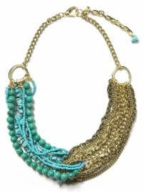 Women: Springtime cruise necklace - Gold/turquoise