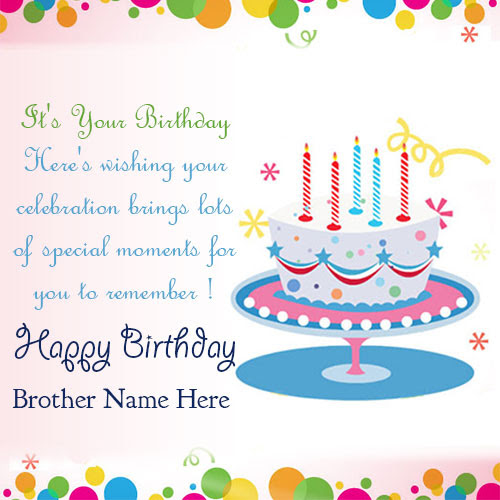 Best Happy Birthday Greetings Card For Brother