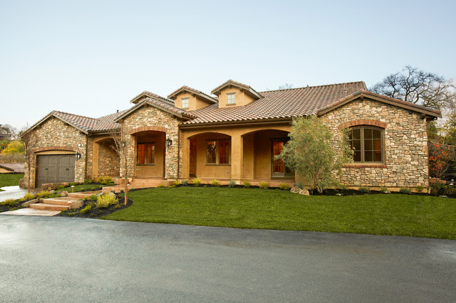 Tuscan Single Story  Mediterranean  Exterior  other metro  by Fautt Homes