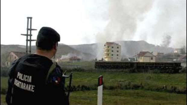 Image result for explosion albanian army