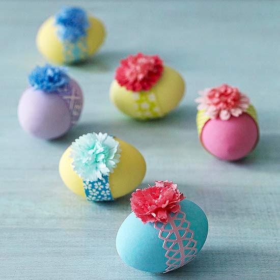 Pretty Banded Easter Egg