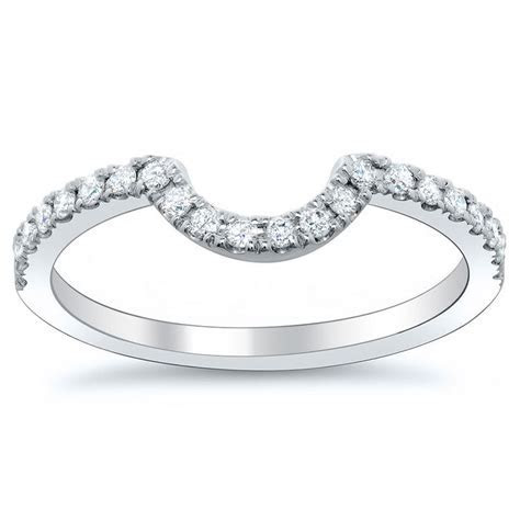 Curved diamond wedding band..perfect for round or oval