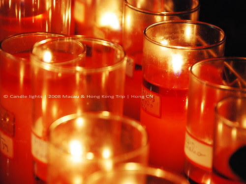 Candle Lights in St. Augustine Church