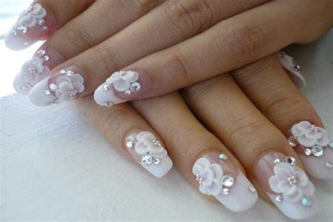 Best White Wedding Nails Ideas & Gels for Brides   FMag.com