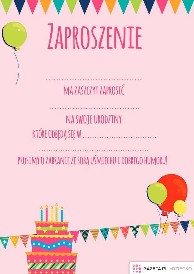 Zaproszenie Na Urodziny Dziecka Grafika