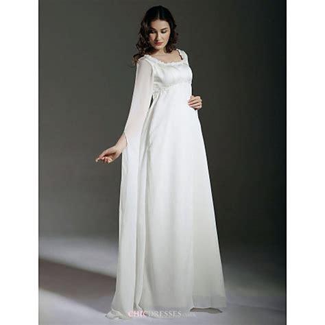 Sheath/Column Maternity Wedding Dress   Ivory Floor length