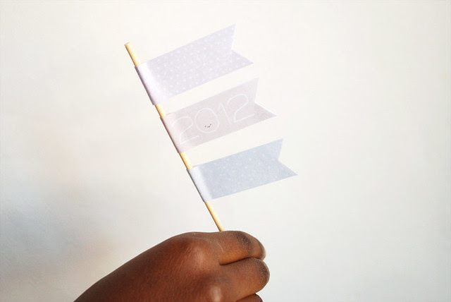 New Year's mini flags