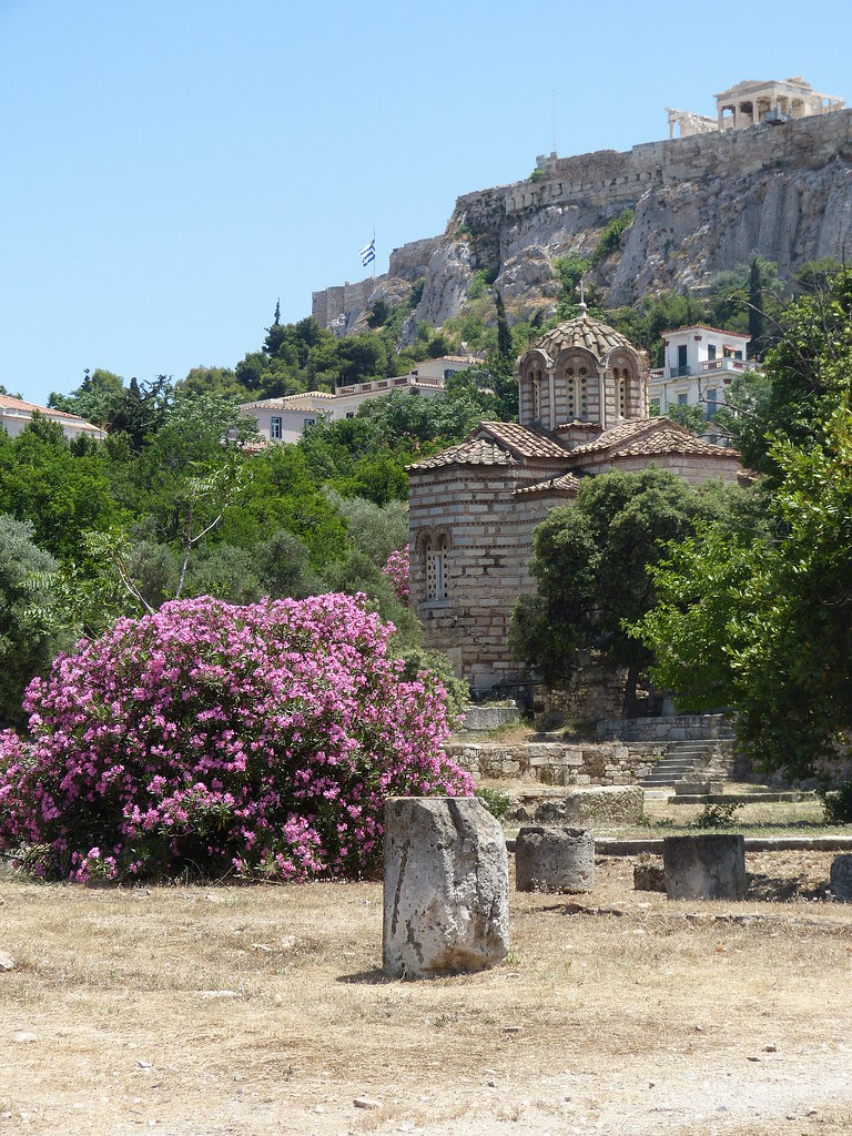 Athens, view of the Parthenon from the Agora