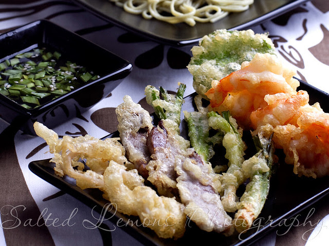 Cold Soba Salad & Tempura