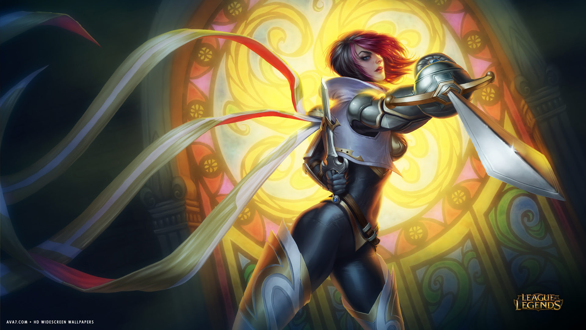League Of Legends Game Lol Fiora Girl Sword Hd Widescreen