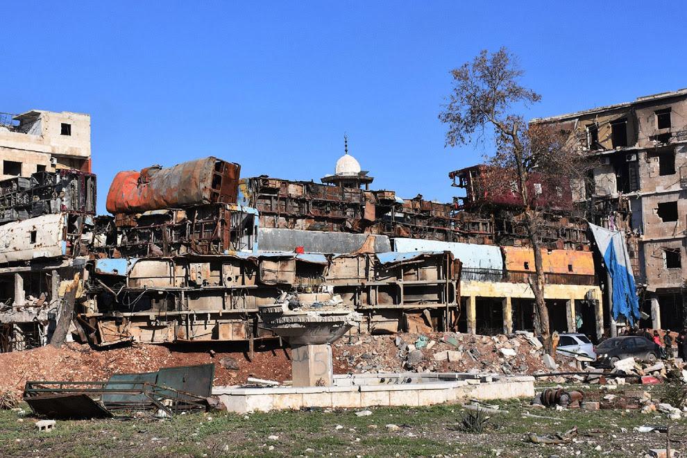 Баррикады в Старом городе Алеппо