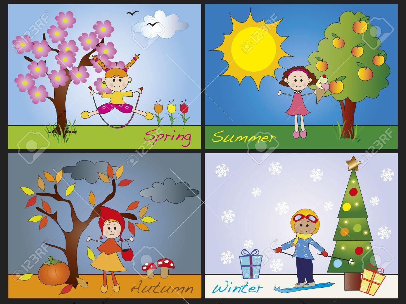four seasons clipart 15