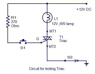 circuit-for-testing-triac