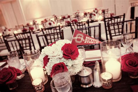 elegant red sports themed wedding glamour grace