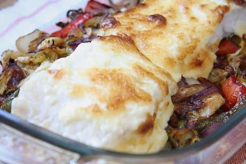 Cocina para principiantes bacalao con verduras y mahonesa - Cocina para principiantes ...