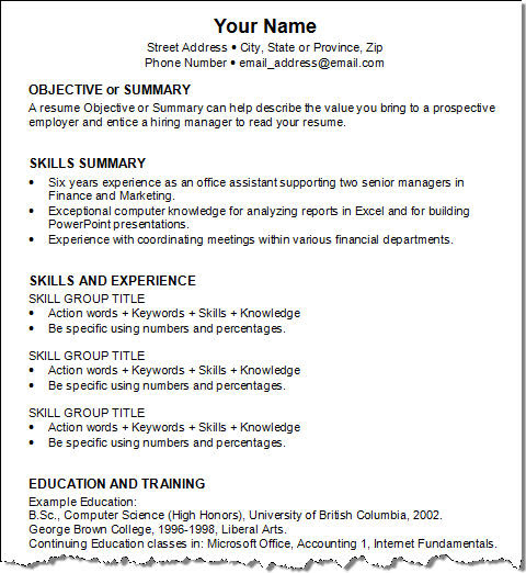 Resume Category: None