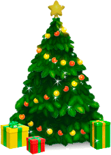 garland christmas tree