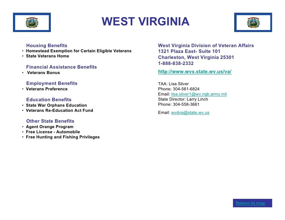 Veterans Benefits By State