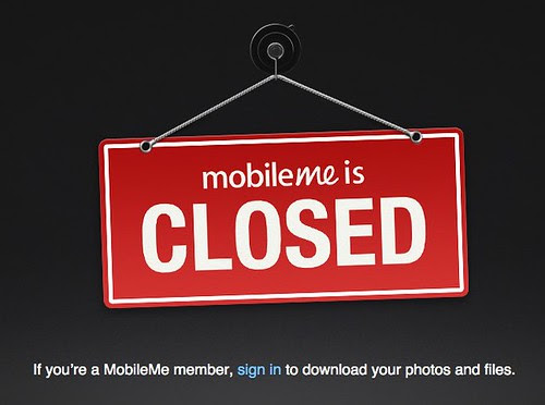 mobileme is CLOSED by stevegarfield