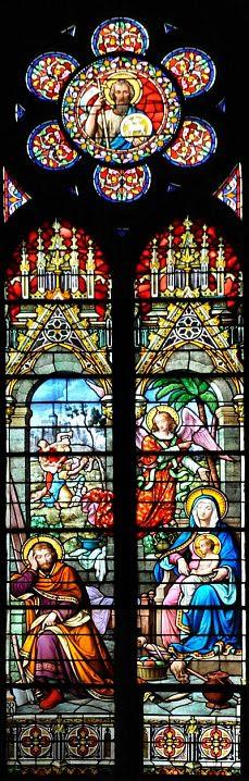 Vitrail dans l'abside : Le Songe de Joseph