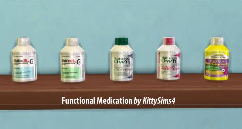 http://kittysims4.tumblr.com/post/115947705874/functional-medication-17-functional-drugs-for