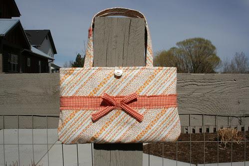 Orange and gingham Spring bag