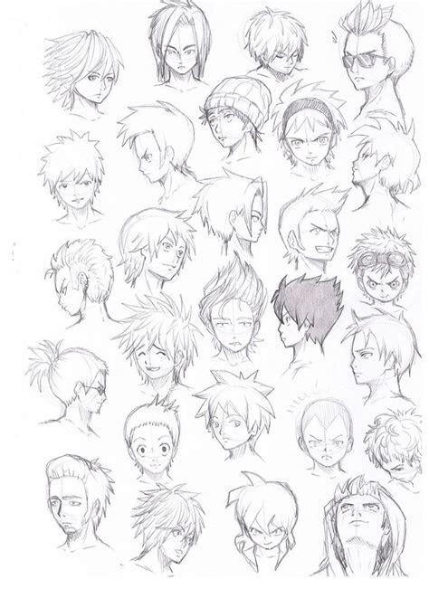 cool anime guy hairstyles google search  anime