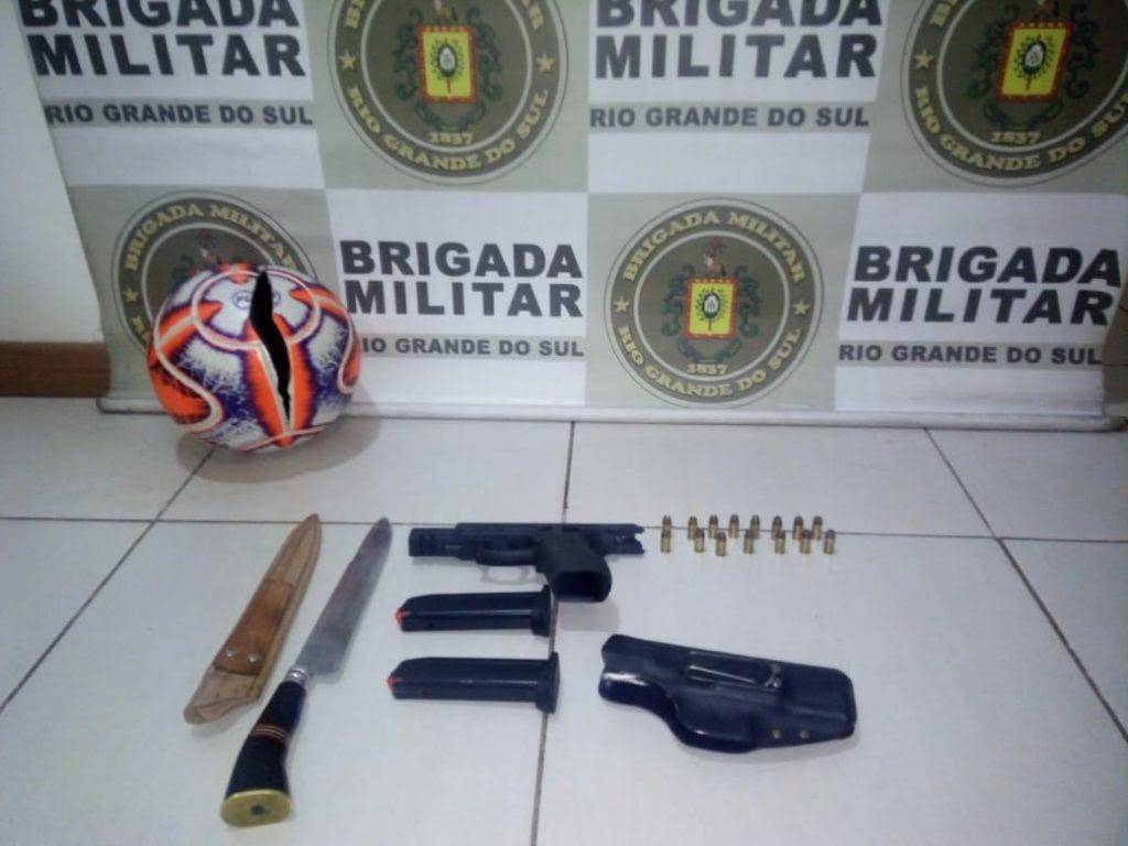 Jogador do Brasil de Farroupilha é preso em flagrante por porte de arma durante jogo em Passo Fundo