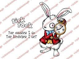 Visible Image Wonderland White Rabbit stamp set PBx