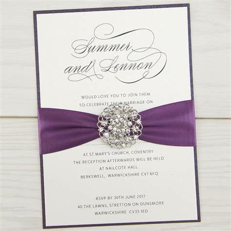 Violet Parcel Wedding Invitation   Pure Invitation Wedding