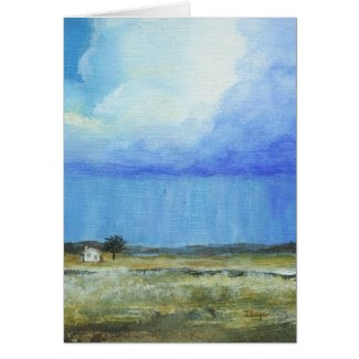A Perfect Storm Original Painting Greeting Note card