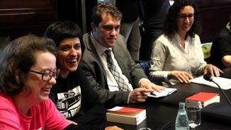 Diputats de la CUP i JxSí, aquest dimarts al Parlament (ACN)