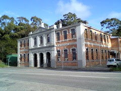 Old customs house and telegraph office at Strahan