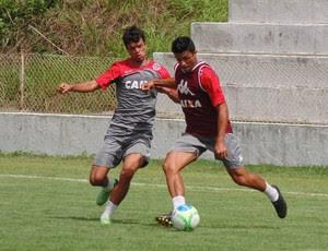 Jeferson e Márcio Passos - América-RN (Foto: Edmo Nathan/Divulgação)
