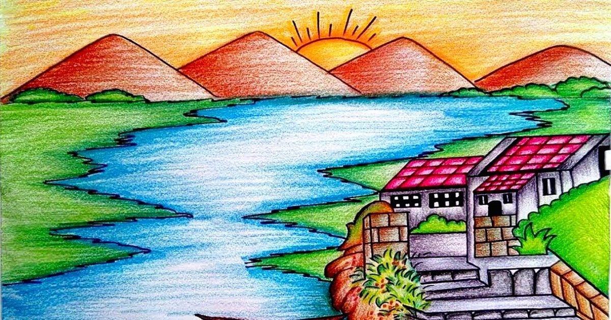 25 Inspirasi Keren Lukisan Pemandangan Pantai Gambar Pemandangan Alam Yang Indah Dan Mudah Digambar Sufi Nadirah