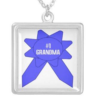 Blue Ribbon #1 Grandma Personalized Necklace