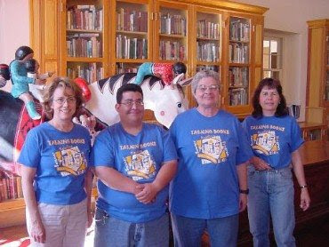 Main Library staff in Summer Reading t-shirts