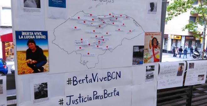 Imagen del evento de este sábado en apoyo a Zúñiga Cáceres. L. SAFONT