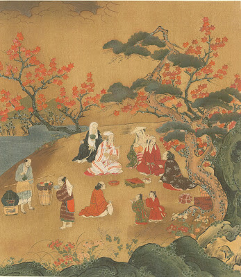 Ukioye - Women Looking at the Maple Trees at Takao