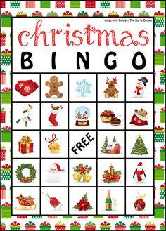 Free Printable Christmas Bingo Cards | Christmas | Pinterest ...