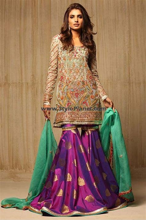 LATEST PARTY WEAR EMBROIDERED SHARARA PANTS & TROUSERS